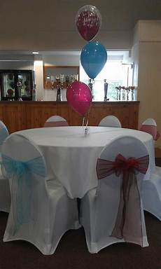 wedding chair covers and balloon table display west ham
