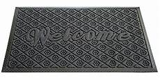 Grey Front Door Mat by Welcome Mat For Outdoor And Indoor Use Gray Rubber Large