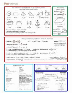 math formulas sheet prepnorthwest math help