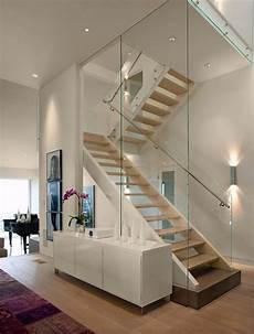 Wandgestaltung Treppenhaus Einfamilienhaus - 20 glass staircase wall designs with a graceful impact on