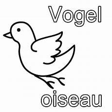 kostenlose malvorlage franz 246 sisch lernen vogel oiseau