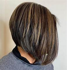 2020 latest black angled bob hairstyles with shaggy layers