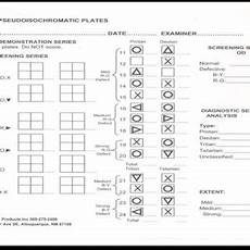 ishihara s score sheet of colour vision test download scientific diagram