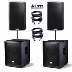 Alto Ts2155 Speakers Tssub18 Subs Pa Package