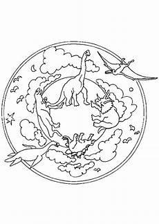 coloriage mandala dinosaures sur hugolescargot