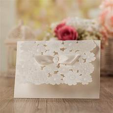 laser cut wedding invitations blank wedding cards pearl paper invitation card party supply stock