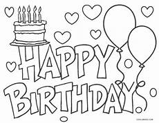 free printable happy birthday coloring pages for