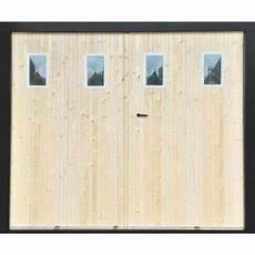 porte de garage 4 vantaux bois porte de garage 4 vantaux sapin hublots l 240 x h 200 cm