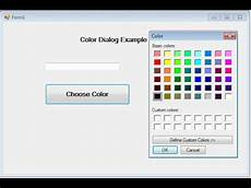 color dialog windows application in asp net c youtube