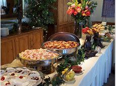 55 Buffet Table Settings Ideas, Buffet Table: Christmas