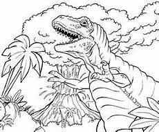 ausmalbilder dinosaurier vulkan kinder ausmalbilder