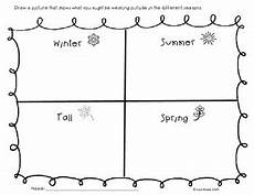 Four Seasons Worksheet By Ell Resources Tpt