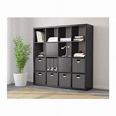 kallax shelf unit black brown ikea