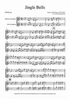 pierpont jingle bells for saxophone quartet quintet