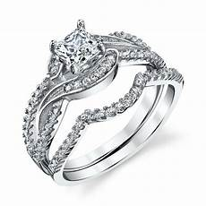 925 sterling silver cz engagement wedding ring cubic zirconia scroll design ebay
