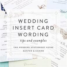 Wedding Invitation Inserts Wording
