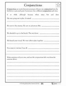 1st grade 2nd grade 3rd grade reading writing worksheets conjunctions writing worksheets