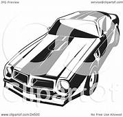 Clipart Illustration Of A 1977 Pontiac Trans Am With