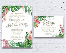 Tropical Themed Wedding Invitations tropical wedding invitation wedding by heartwoodpaperie