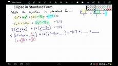 completing the square to write the equation of an ellipse
