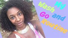my wash and go routine youtube