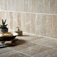 Tile Walls tumbled noce effect travertine wall tile pack of 15