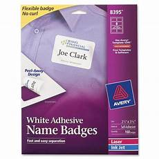 avery 8395 name badge label 2 33 quot width 3 37 quot length 160 rectangle 8 sheet