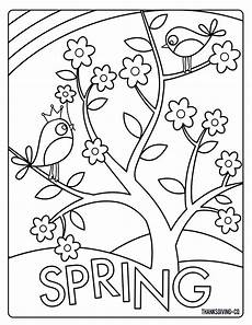 color sheets for spring sweet and sunny spring easter coloring pages