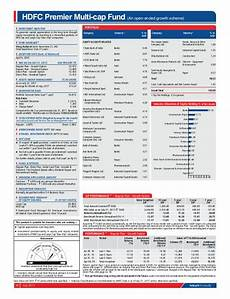 factsheet for hdfc mutual fund