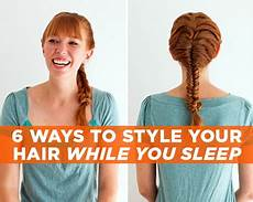 hairstyles you can sleep in