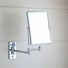 chrome square wall mounted foldable make up mirror magnifying mirror ebay
