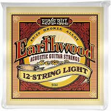 Ernie 2010 Earthwood 80 20 Bronze 12 String Light