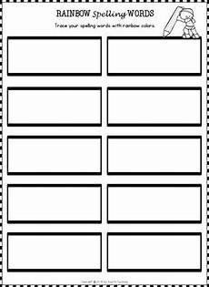 editable spelling worksheets and spelling activities for any 10 word list