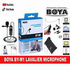 phone interview shopee ready stock boya by m1 omnidirectional lavalier interview microphone clip mic for camera phone