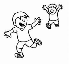 brothers running coloring page coloringcrew