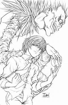 Ausmalbilder Anime Jungs Deathnote Light And Ryuk By Darkchildx2k Tatuagens De