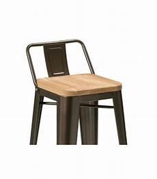chaise de bar en m 233 tal noir et assie en bois de fr 234 ne