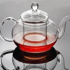 750ml handmade glass teapot transparent flower tea pot