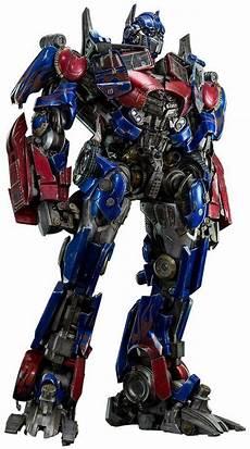 threea transformers of the moon optimus prime painted