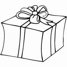 big gift coloring page