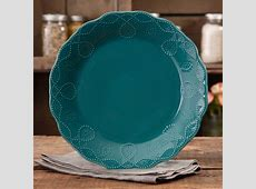 The Pioneer Woman Cowgirl Lace Teal Dinner Plate   Walmart.com