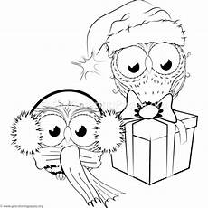 Ausmalbilder Eule Weihnachten Owls Coloring Pages Getcoloringpages Org