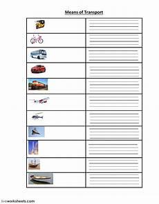 transportation worksheets for middle school 15201 means of transport worksheet
