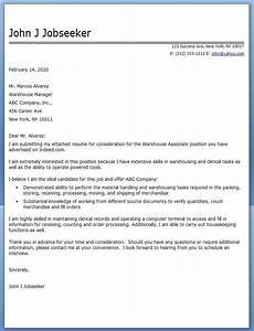 warehouse associate cover letter cover letter for resume administrative assistant cover
