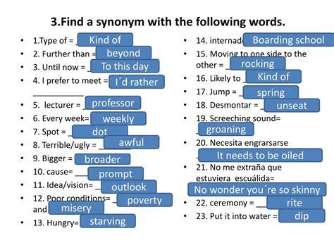 Examen Synonym