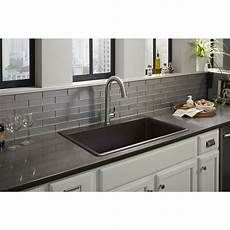 neoroc kitchen sinks in black kitchen the home depot