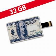 32 gb speicherkarte in scheckkartenform 100 dollar usb usb