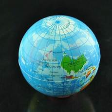 globe diagram world map foam earth globe stress relief foam bouncy elastic soft gift ebay