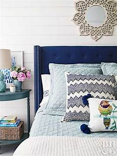 Bedroom Ideas Blue Headboard by Guest Bedroom Ideas Bedrooms Blue Headboard And