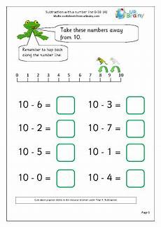subtraction with a number line 4 subtraction maths
